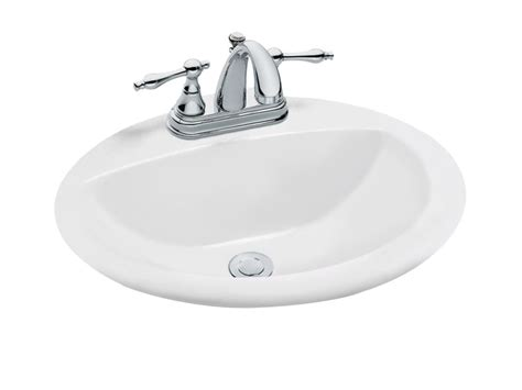 home depot drop in bathroom sinks glacier bay oval drop in bathroom sink in white the home