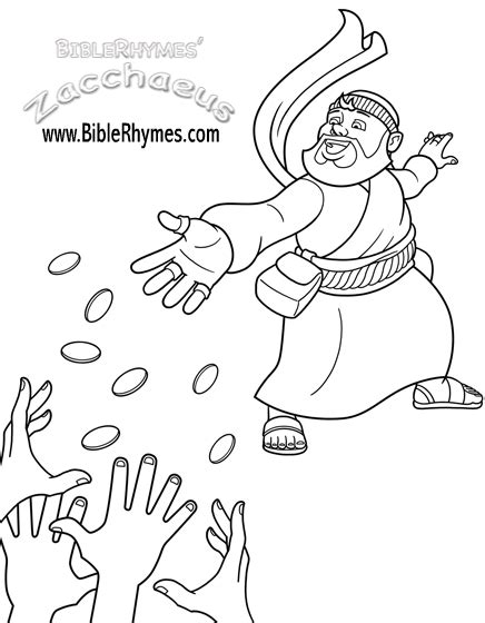 Coloring Page Zacchaeus by Coloring Pages Zaccheus Free Printable Coloring Pages