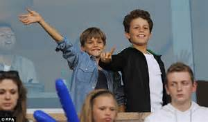 Attention Romeos by David Beckham S Sons Romeo And Cheer Him On