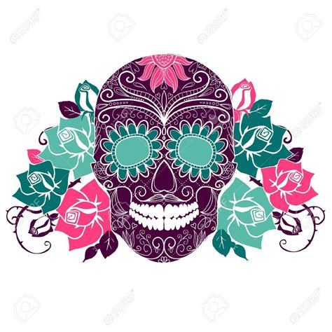 sugar skull with flowers google search tattoos