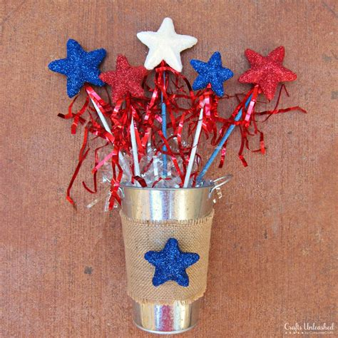 fourth of july crafts for glittery wands a 4th of july craft