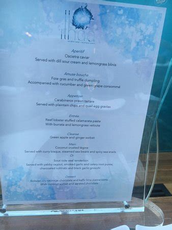 ithaa undersea restaurant prices menu for the night picture of ithaa undersea restaurant