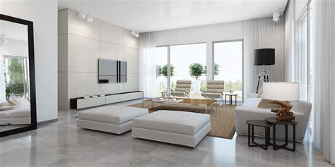 Modern white living room white sofa rug : OLPOS Design