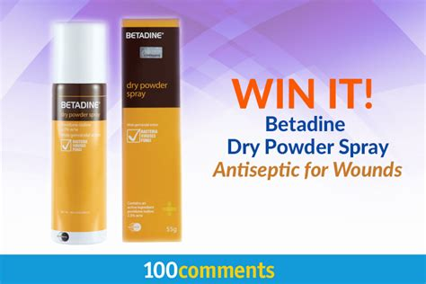 Betadine Powder Spray contest winners announcement 24 to 25 jul