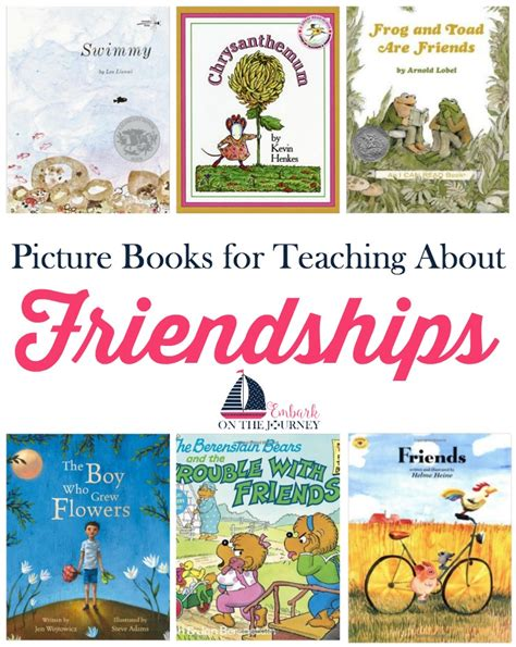 friend list books teaching about friendships with picture books