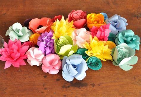 fiori fai da te di carta fiori di carta fai da te il bricolage realizzare fiori