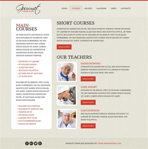 Free Website Template Cooking Cooking Website Templates Free
