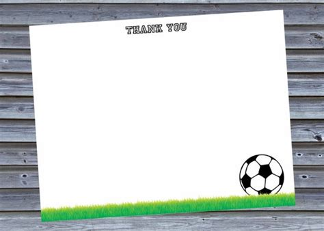 soccer thank you card template the world s catalog of ideas