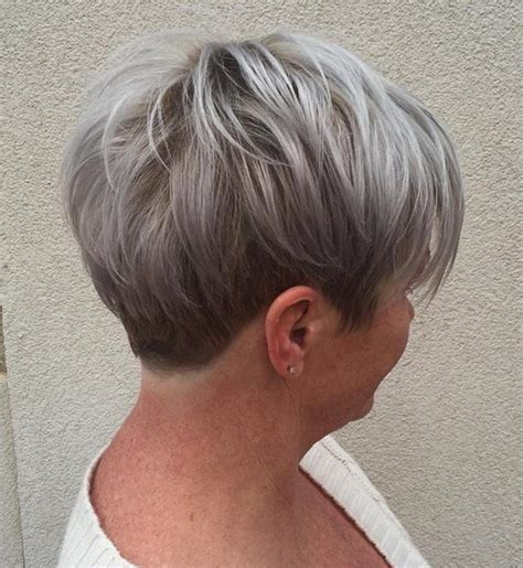 40 year old woman with short grey hair 50 gorgeous hairstyles for gray hair