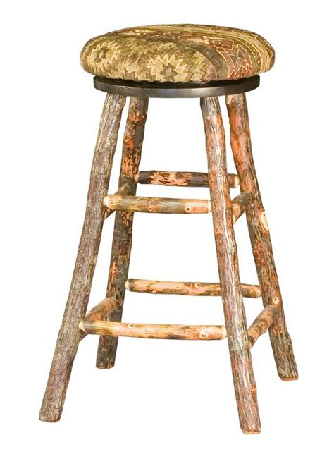 rustic hickory bar stools rustic hickory bar stool from dutchcrafters amish furniture