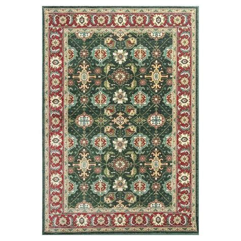 rug 3 ft kas rugs antiqued mahal emerald 3 ft 3 in x 5 ft 3 in area rug shi500533x53 the home depot