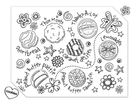Printable Scout Cookie Coloring Pages cookies coloring page coloring home