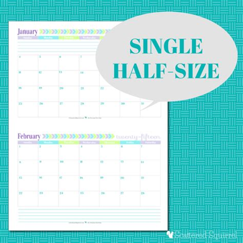 printable half sheet planner pages 2015 calendar printables you asked i m answering