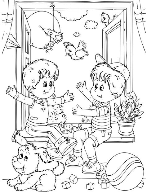 preschool coloring pages all about me all about me friendship coloring page for kids