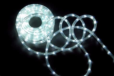 White Rope Lights Outdoor 10 Meter In Outdoor Rope Light Static L E D Lights White Blue Multi Coloured Ebay