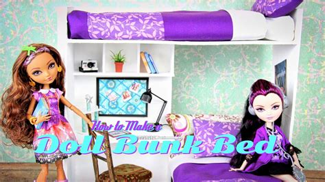 my froggy stuff how to make a bedroom how to make a doll bunk bed plus desk doll crafts