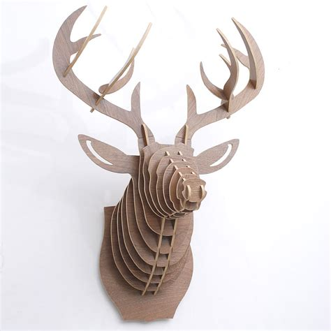 1000 images about trophy head mount 3d puzzles on buy 3d wooden white deer head puzzle uk on okmodle co uk