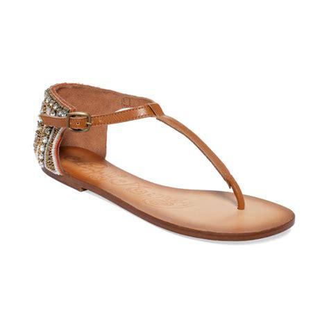 monkey sandals monkey sunflower sandals in brown lyst
