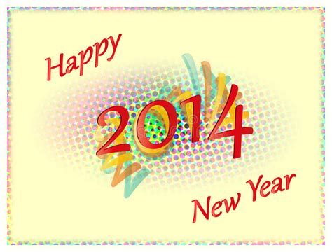 new year is based on colored happy new year 2014 stock illustration