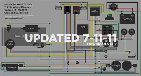 wiring diagram for a gy6 with honda ruckus how to