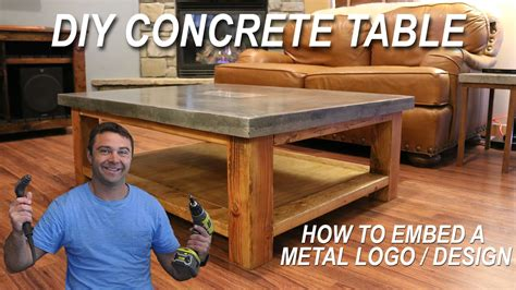 how to a concrete table how to a concrete coffee table and how to embed a
