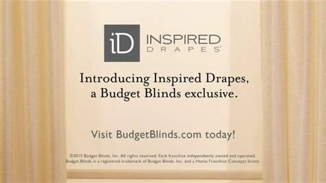 inspired drapes budget blinds inspired drapes tv spot schedule your free