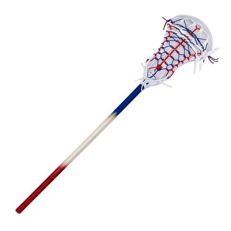 Handmade Lacrosse Sticks - ripwood stylin strings murica custom mini pita lacrosse