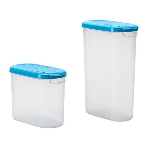 ikea food storage j 196 mka dry food jar with lid set of 2 1 2 qt ikea