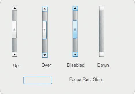 scrollbar ui pattern adobe flash professional cs5 customize the uiscrollbar