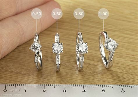engagement rings sizes compared we