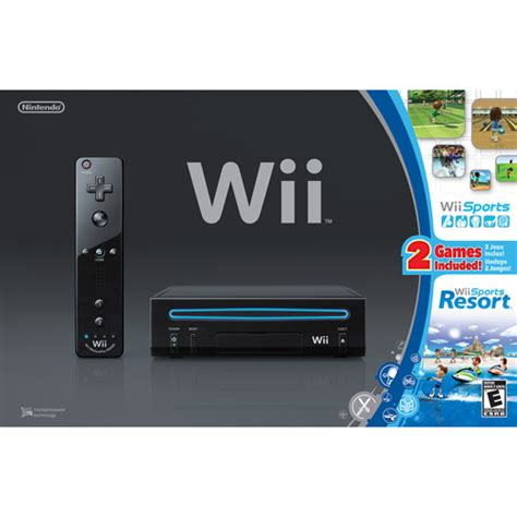 the wii console wii console with wii sports black walmart