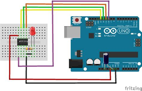 reset software arduino programming attiny85 with arduino uno get electronics