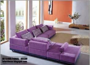 Purple furniture sets sofas chairs for living room interior designs
