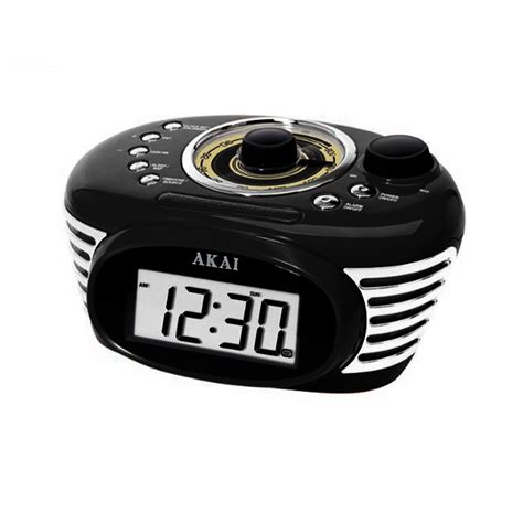 akai retro radio alarm digital backlight lcd display clock fm radio w 3 5mm ebay