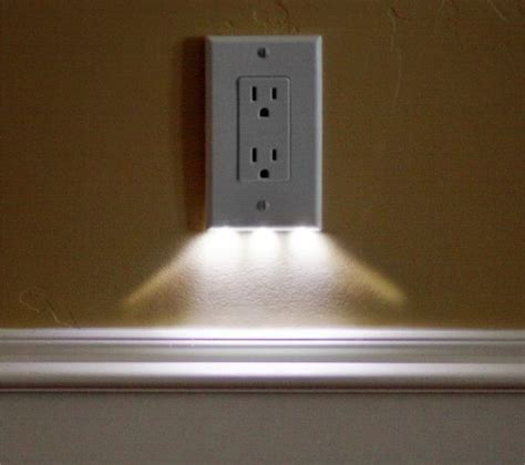 light switch with night light built in led night light outlet covers install in seconds use just