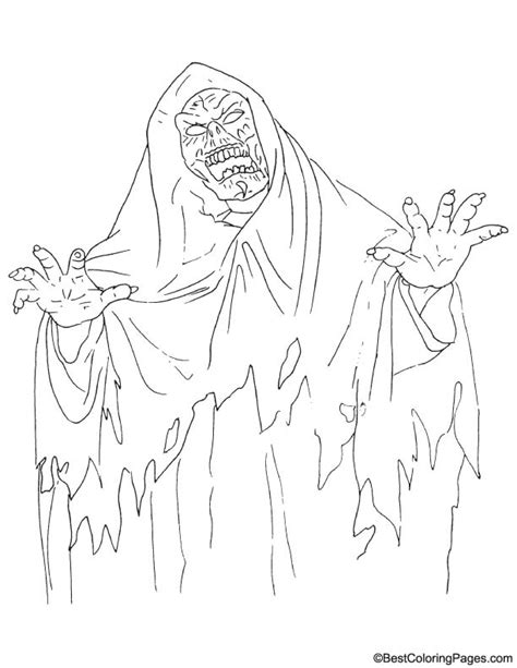 Scary Ghosts Coloring Pages Scary Coloring Pages