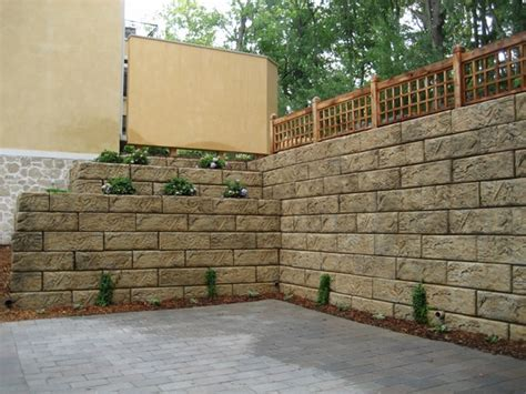 Concrete Blocks For Garden Walls 35 Retaining Wall Blocks Design Ideas How To Choose The