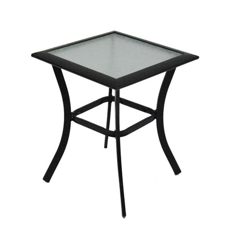 Patio End Table Shop Garden Treasures Cascade Creek 20 In W X 20 In L Square Steel End Table At Lowes