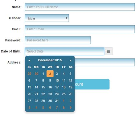 bootstrap templates for datepicker override bootstrap styles phpsourcecode net