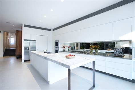 white marble kitchen island white kitchen island marble counter enclave house in melbourne australia by bkk architects