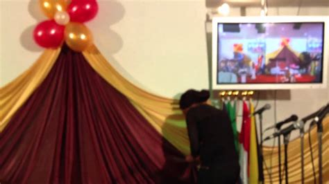 how to drape a wall for a wedding wall draping youtube