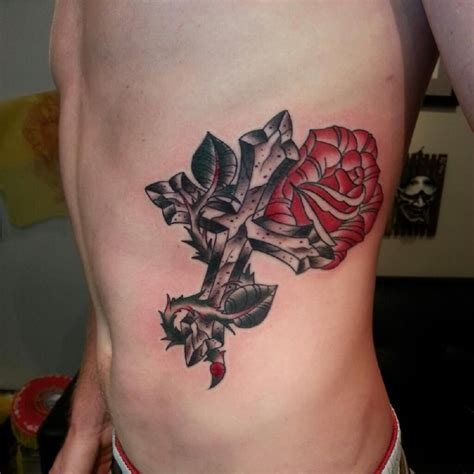 cross and rose tattoo designs cross tattoos tatt itt upp