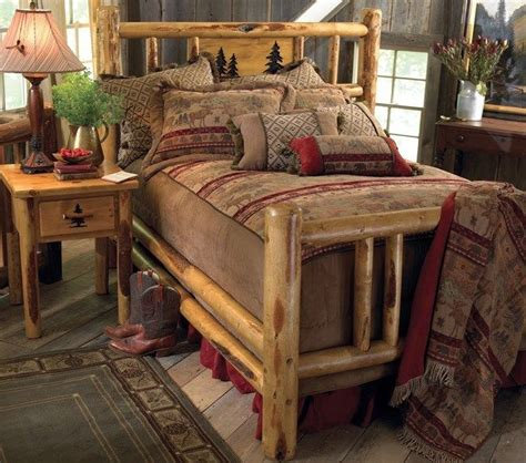 Rustic Metal Bed Frames by Custom Rustic Bed Frame Country Western Bedroom Cabin