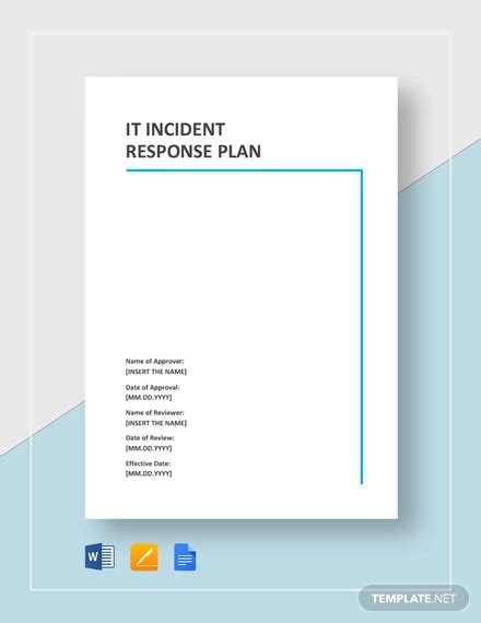 it incident response plan template 11 incident response plan templates pdf word format