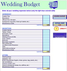 Wedding Budget Website by Wedding Budget Template Free Iwork Templates