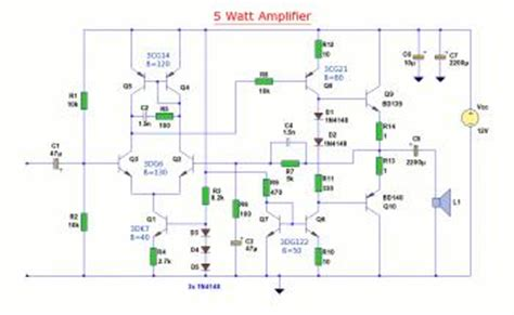 bd139 transistor circuit schematics 5w audio lifier circuit based bd139 bd140