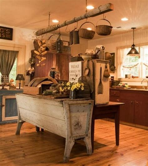 primitive kitchen island primitive kitchen decor 543x610 creating primitive kitchen lovin primitives
