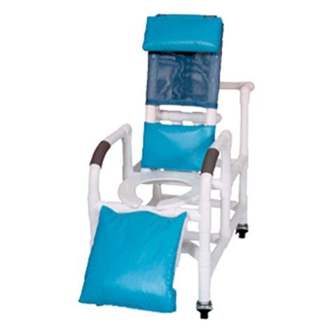 Pvc Reclining Shower Chair by 15 Quot Pvc Reclining Shower Commode Chair Open Front Seat