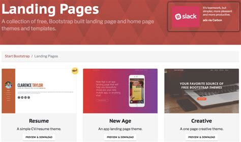 9 Quality Sources For Beautiful Landing Page Templates Free Landing Page Templates Bootstrap