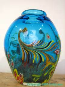 Antique Bristol Blue Glass Vase Antique Art Glass Vases Vases Sale